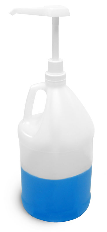 Natural HDPE Bottles w/ Pump Dispensers