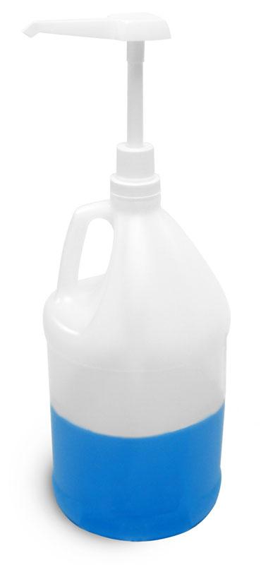 Natural HDPE Bottles w/ Pump Dispensers