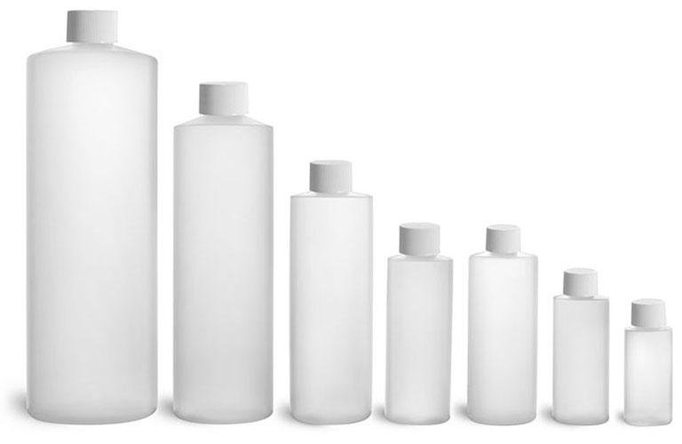 Natural HDPE Cylinder Rounds w/ Caps