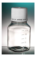Clear PET Media Bottles w/ Caps