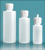 Squeeze Bottles, Natural Cylinder Squeeze Bottles, Flip Top Caps