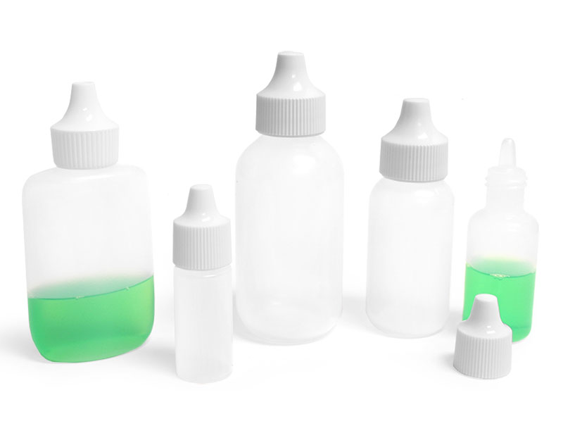 Natural LDPE Dropper Bottles w/ Dropper Plug