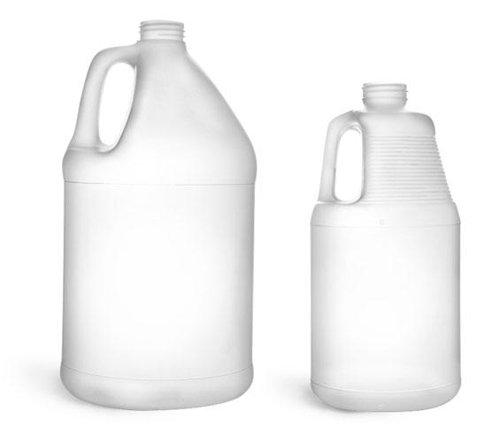 Laboratory Plastic Bottles, HDPE Jugs (Bulk), Caps NOT Included