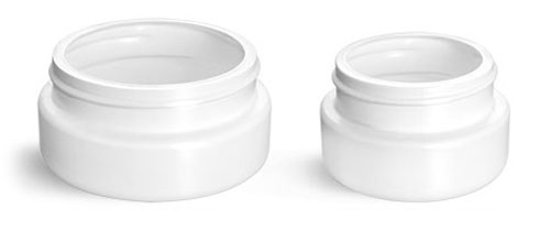 Plastic Laboratory Jars, White HDPE Wide Mouth Low Profile Jars, (Bulk) Caps Not Included