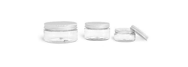 Clear PET Jars w/ Lined Aluminum Caps