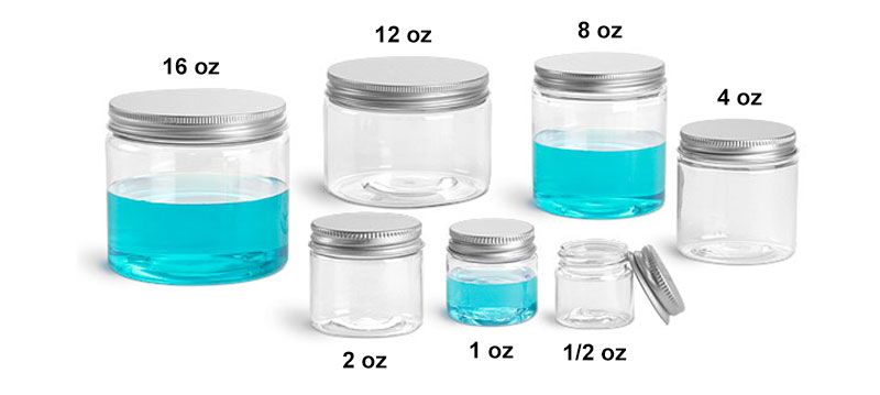 Sks Science Products Plastic Laboratory Jars Clear Pet Jars W
