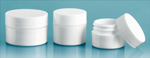 Plastic Lab Jars, White Polypro Jars w/ Caps