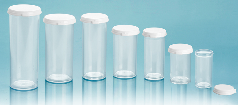 Plastic Lab Vials, Clear Styrene Lab Vials with Snap Caps