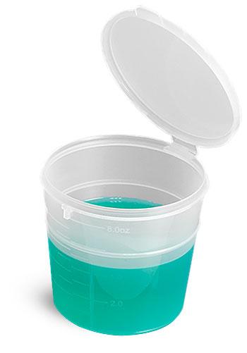 Plastic Lab Vials, Natural Graduated Snap Top Lab Vials