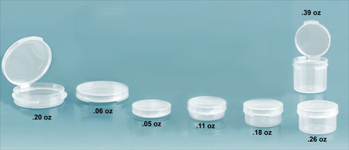 Plastic Lab Vials, Natural Wide Mouth Hinge Top Lab Vials