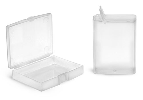 Natural Polypro Hinge Top Containers