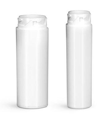 Plastic Lab Vials, White Purse Pak Vials (Bulk), Caps NOT Included