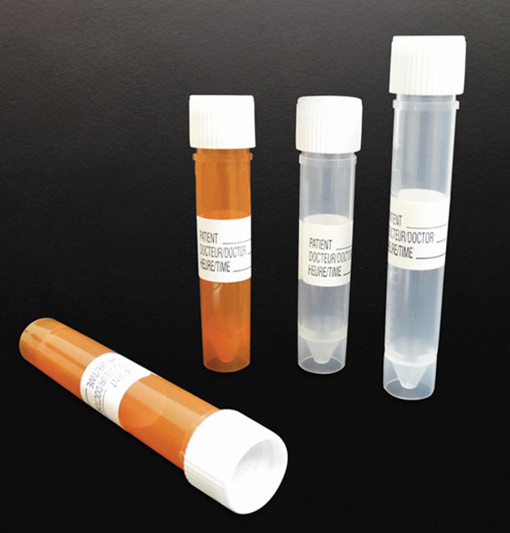 Sample Containers, Polypropylene Urinalysis Specimen Collection Tubes w/ Leakproof Screw Caps