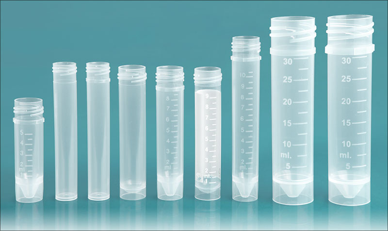 Vials, Natural PP Self-Standing Transport Tubes