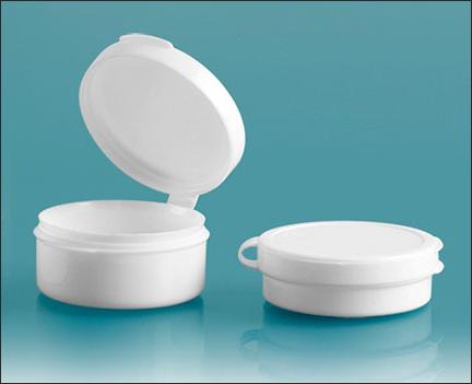 Plastic Vials, White Hinge Top Pill Pods