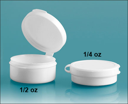 Plastic Vials, Hinge Top Containers, White Hinge Top Pill Pods
