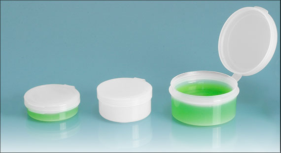 Plastic Vials, Natural Hinge Top Pill Pods
