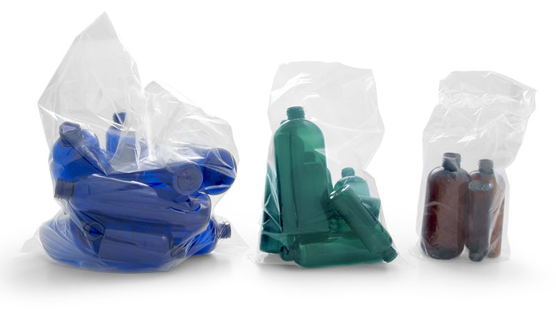 Clear PE Plastic Sample Bags, Small