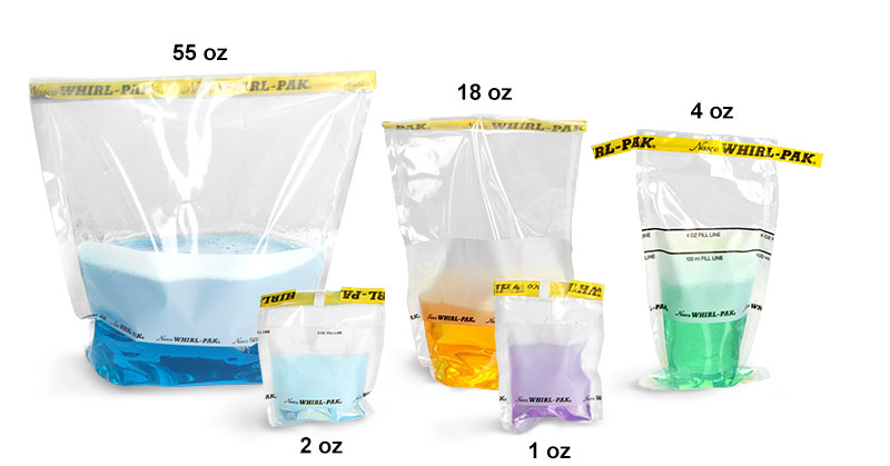 Whirl-Pak Bags, Write-On Whirl-Pak Sample Bags, Sterile
