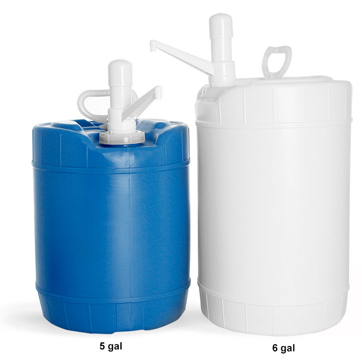 Plastic Drums, HDPE Plastic Round Drums with Dispensing Pumps