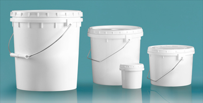 Plastic Vapor Lock Tubs and Pails w/ Metal Handle