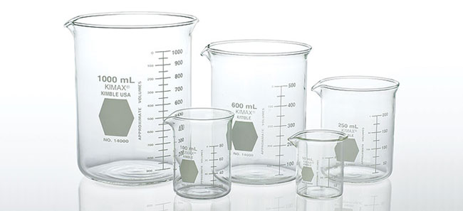 Griffin Low Profile Glass Beakers, Starter Pack