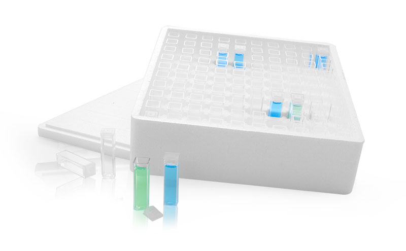 Clear Macro Cuvettes, Clear Square Sampling Vials