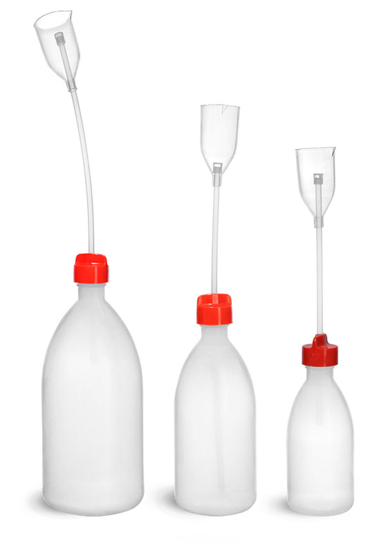 LDPE Adjustable Volume Bottles w/ a PMP Dispenser Cup