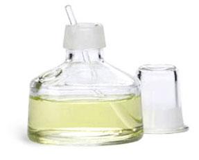Glass Laboratory Bottles, 100 ml Clear Glass Balsam Bottles w/ Applicator & Cap