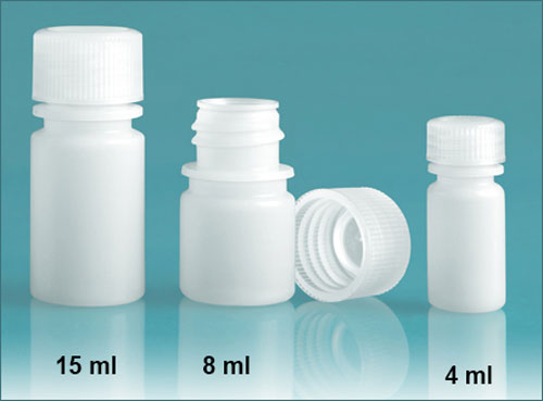 SKS Science Products - Lab Bottles, Leak Proof, Natural HDPE Narrow