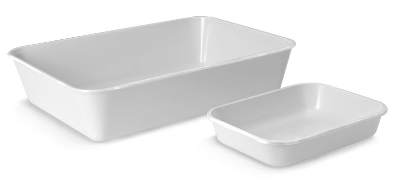 White Polystyrene High Impact Trays