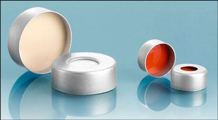 Metal Caps, Aluminum Crimp Caps w/ Silicone Septas