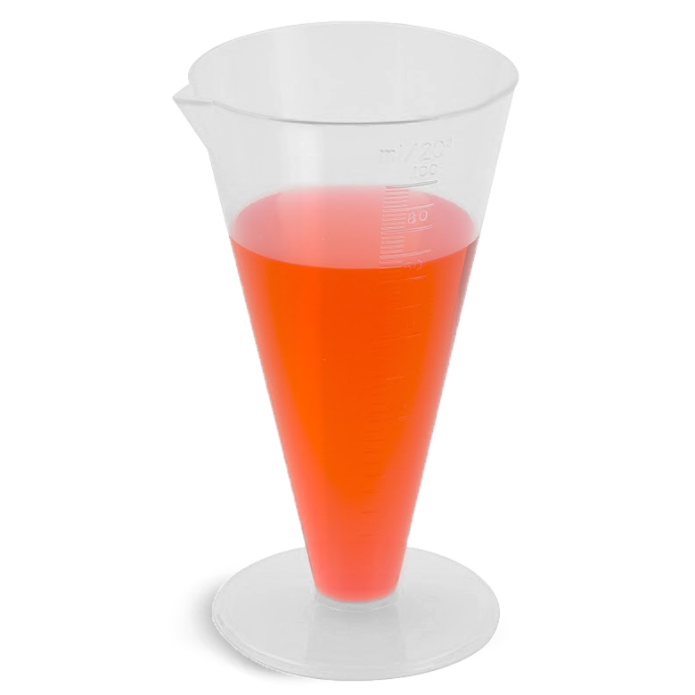 Polypropylene Plastic Conical Graduated Cylinders