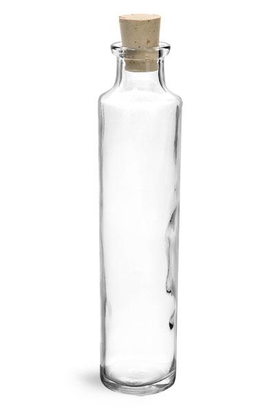 Clear Glass Oil Testing Sample Bottles w/ Corks