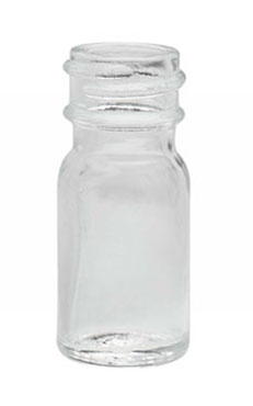 Clear Glass Diagnostic Bottles (Caps Not Included)