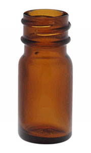Glass Laboratory Bottles, Amber Glass Diagnostic Bottles (Caps Not Included)
