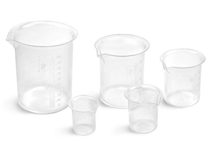 Griffin Style Polypropylene Plastic Beakers, Starter Kit