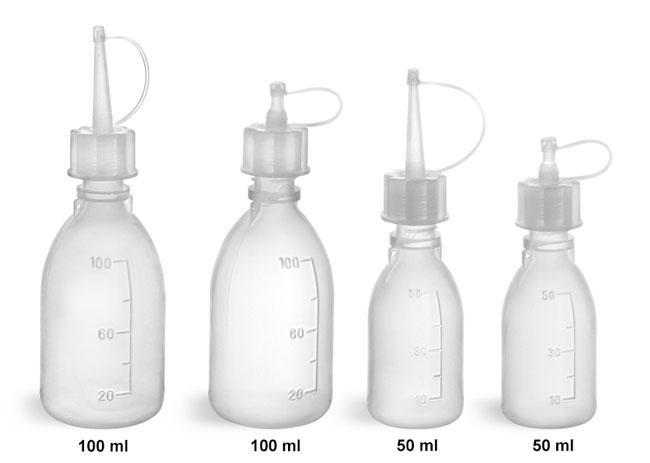 Plastic Laboratory Bottles, LDPE Spout Dropping Bottles