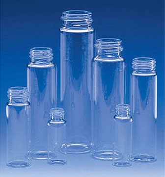 Glass Lab Vials, Clear Glass E-C Sample Lab Vials w/ No Caps Included (11 ml - 60 ml)