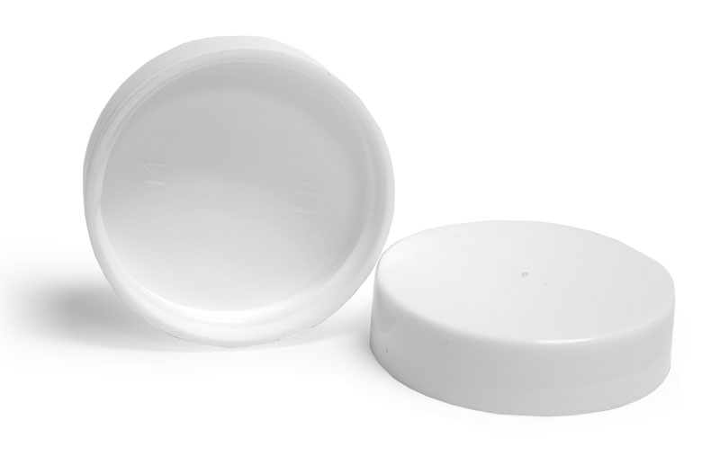 White Plastic Smooth Unlined Caps
