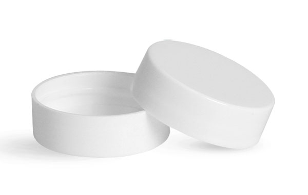 White Polypro Smooth Lined Caps
