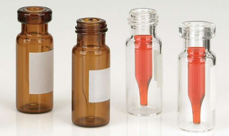 Glass Lab Vials, Glass High Recovery LVI Vials w/ No Caps Included