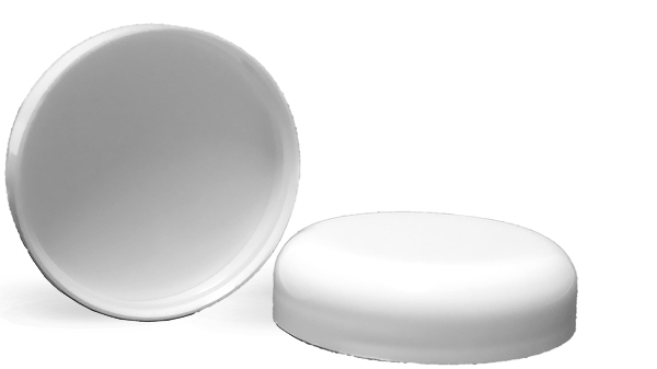 White Plastic Dome F217 Lined Caps