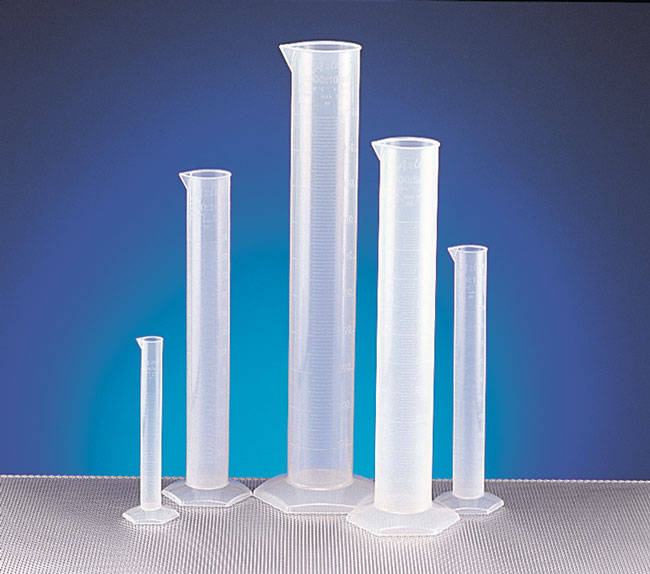 Polypropylene Plastic Graduated Cylinders w/ Molded Graduations