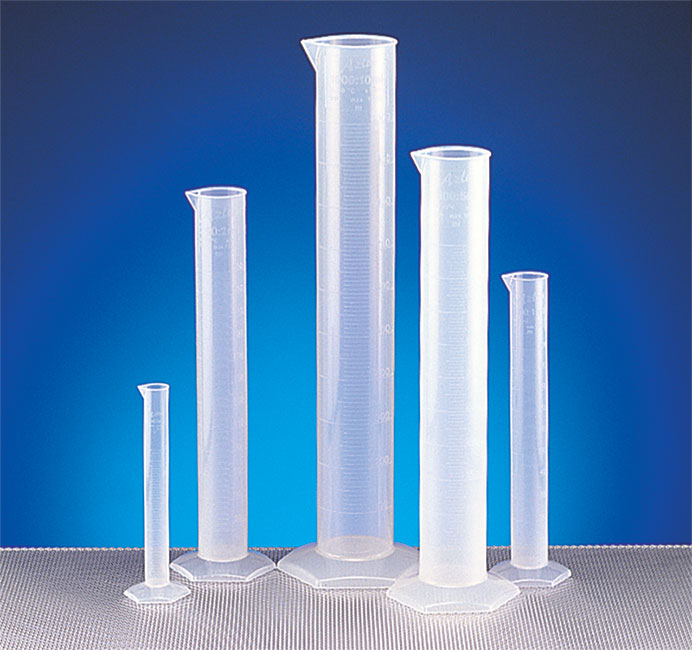 Polypropylene Plastic Graduated Cylinder Set
