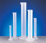 Graduated Cylinders, Polypropylene Graduated Cylinder Sets