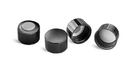 Black Phenolic Screw Caps for Glass Media Bottles
