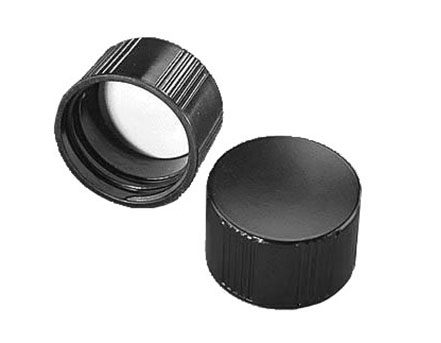 Black Phenolic Rubber Lined Screw Caps
