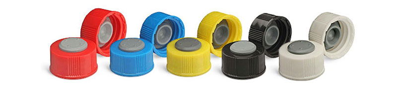 I-Loc PP Screw Caps w/ Stoppers for Glass Diagnostic Bottles
