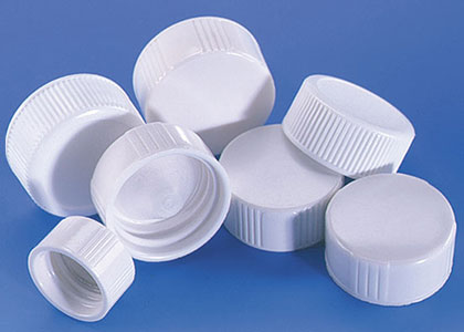 Plastic Caps, White Plastic Screw Caps for Liquid Scintillation Vials